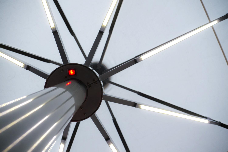Sonnenschirm Streben mit Beleuchtung
