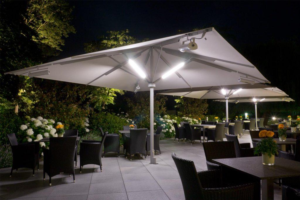 Big Ben Sonnenschirm Caravita Weiss Quadratisch Heizung Solamagic Licht Elegance Referenzen Kempinski Frankfurt 02 1024x683